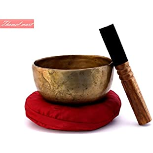 5 Inch Authentic Antique Old Tibetan Singing Bowl from Nepal-Meditation bowl,healing