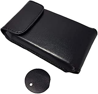 Dexcom G6 Receiver Touchscreen New Genuine Leather Protective Carrying Case with Clip and Carrying Handle Black