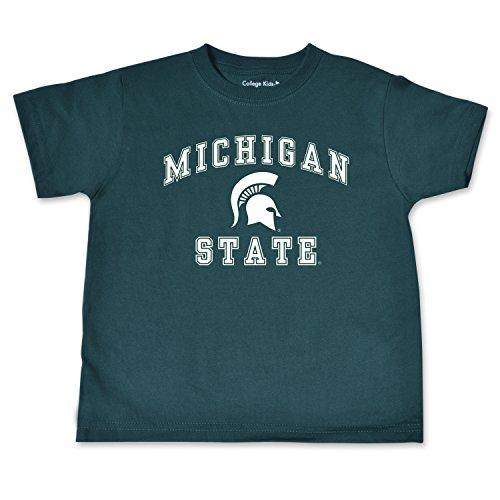 NCAA Michigan State Spartans Toddler Short Sleeve Tee, 2 Toddler, Dark Green