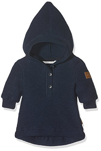 mikk-line mikk-line Unisex Baby Woll-Kapuzenshirt Sweatshirt, Blau (Blue Nights 287), 74