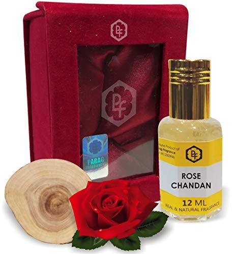 Parag Fragrances ROSE CHANDAN 12ML Real & Natural Attar, Best Attar For Man and Woman, 100% Alcohol Free & Long Lasting Attar