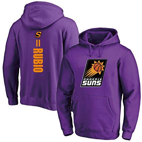 Ricky Rubio # 11 Sudadera con Capucha, Phoenix Suns Hombres Camiseta de Manga Larga con Capucha for niños Baloncesto (Color : Purple(A), Size : XXL)