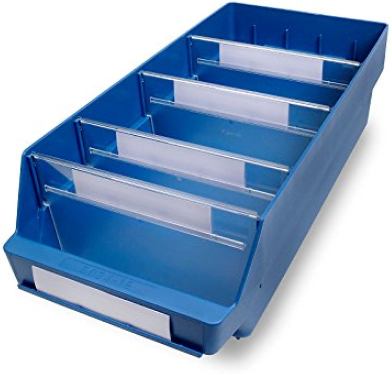 STEMO Regalkasten aus hochschlagfestem Polypropylen - blau - LxBxH 500 x 240 x 150 mm, VE 10 Stk - Kasten Kunststoff-Regalkasten Kunststoff-Regalksten Kunststoffregalkasten Kunststoffregalksten