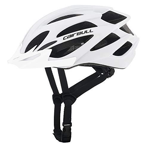 Cairbull Größe M und L Specialized Fahrradhelm MTB Helm Mountainbike Helm Herren & Damen Schwarz mit Rucksack Fahrrad Helm Integral 21 Belüftungskanäle (Weiß01, M/L (55-61CM))