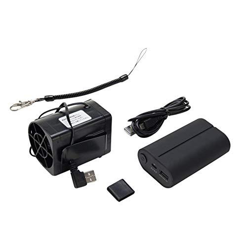 Ksruee Mini tragbarer Mini-Taillenlüfter, 7,4 V, 5200 mAh, batteriebetriebener Riemenlüfter mit großer Kapazität, 8 Stunden Arbeitszeit, 4 Geschwindigkeiten, wiederaufladbarer USB-Lüfter, geräuscharm