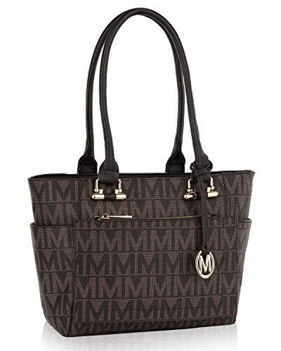 MKF Shoulder Bag for Women: PU Leather Top Handle Tote Handbag – Lady Fashion Satchel Pocketbook, Signature Purse Chocolate