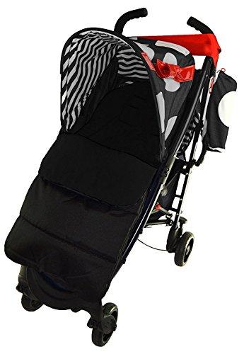 Fußsack/COSY TOES kompatibel mit Maclaren Quest Sport Kinderwagen black jack