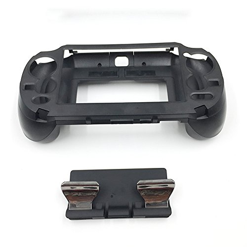 L3 R3 Matte Hand Grip Handle Joypad Stand Case with L2 R2 Trigger Grips Handel Holder Button For PS Vita PSV 1000 (Black)