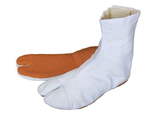 子供足袋クッション貼付(白・マジックテープ式) 力王の子供用祭り足袋 祭り地下足袋 (19.0cm)