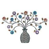 ウォールデコ アイアン フラワー ベース 花瓶 花 ウォールデコレーション 壁掛け 壁飾り おしゃれ 北欧 ウォールオブジェ