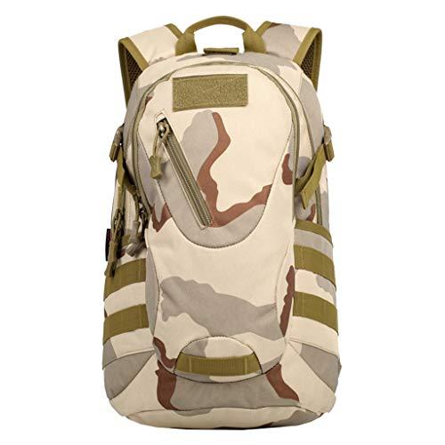 Generic Sac à Dos en Tissu Oxford Professionnel Portable Camping Voyage - Camouflage de Sable, 43x27x13cm