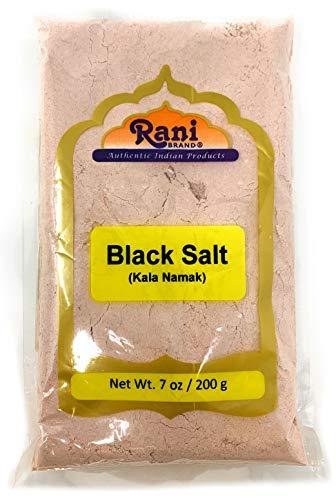 Rani Black Salt (Kala Namak Mineral) Powder, Vegan 200g (7oz) Unrefined, Pure and Natural | Gluten Friendly | NON-GMO | Indian Origin | Perfect for Tofu Scramble - Natural Egg Taste