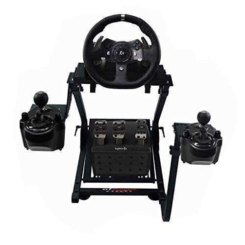 GT Omega Racing Wheel Stand for Logitech G920 G29 G923 Driving Force Gaming Steering Wheel, Pedals & Gear Shifter Mount V2, PS4, Xbox, Ferrari, PC-Tilt-Adjustable to Ultimate Sim Racing Experience