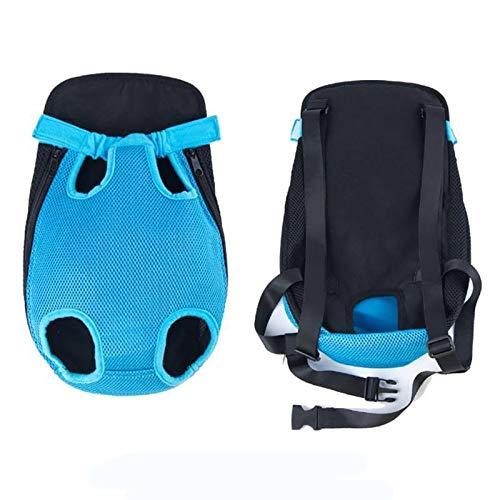 ZZL Transportadores de mascotas para perros y gatos con manos libres, bolsa para viajes, senderismo, camping, cuatro patas, mochila cómoda (color: azul, tamaño: L)