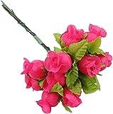 Wohlstand Ramo Rosa Artificial14 Paquetes,Ramo de Rosas Artificiales de Seda para arreglos Florales para el hogar, la Oficina o Las Bodas, Boda Decoración del Hogar Artesanía DIY,168 Flores