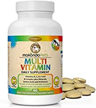 Multivitamin for Dogs and Cats. Prenatal Dog Vitamins, Minerals and Amino Acids. Senior Dog Vitamins and Supplements for dogs & cats. Puppy Vitamins for your dog allergy relief-Complete Dog Supplement