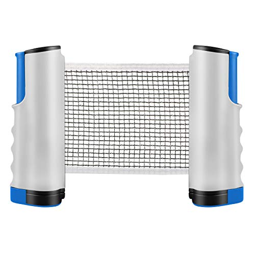 Tencoz Tischtennis Netze, Versenkbare Tisch Tischtennisnetze Tragbar Ping Pong Zubehör Net, Perfekt für Tisch Tennis,für alle Tischtennisplatten Einstellbare Länge 170(Max) x 14,5cm