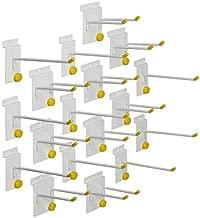 GarageTek 18 Piece Variety Hook Pack | 9 Single Hooks & 9 Double Hooks | Garage Storage System Hooks - Utility Hooks for Garage Organization, Mounts on TekPanel, TekTrak and Other Slat Walls