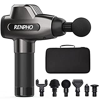 Renpho Massage Gun, C3 Deep Tissue Muscle Massager, Powerful Percussion Massager Handheld with Portable Case for Home Gym Workouts Equipment, Back Neck Shoulder Soreness Stiffness Knots Tension Relief (B088B78JWP)   Amazon price tracker / tracking, Amazon price history charts, Amazon price watches, Amazon price drop alerts