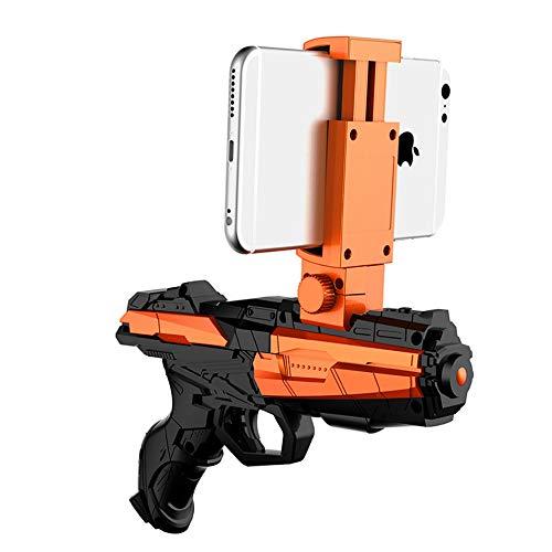 RAKU AR ガン 360°現実増強 Bluetoothペアリング AR-GUN 現実×バーチャル ゲームガン 現実を拡張した最新ゲーム 38種類以上無料ゲーム スマホシューティングゲーム 3D体験 体感ゲーム ストレス発散 おもちゃガン Android &iOS対応 4.7-6インチスマホ対応 軽質 設置簡単 ワイヤレス 子供 誕生日プレゼント 親子ゲーム