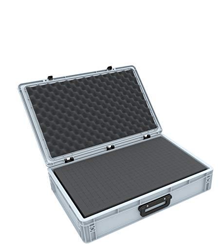 Feldherr ED 64/12 1G Eurobehälter Koffer mit Griff 600 x 400 x 135 mm inklusive Rasterschaumstoff