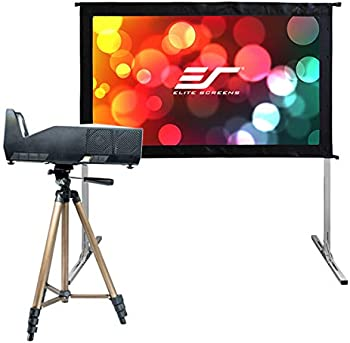 Elite Screens MGFU-S 1500-Lumens DLP Portable Projector Bundle