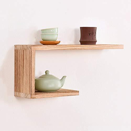 XiuHUa Wandplank, moderne minimalistische retro landelijke muur, houten laminaat rooster wandplank, 2 stijlen beschikbaar indoor decoraties