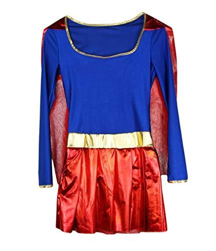 I-CURVES Costume da Supereroe da Donna di Supereroe da Donna, Taglia M 42-44