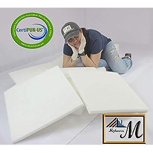 "Mybecca Firm Foam Sheet, 2"" H X 24"" W X 72"" L, High Density"