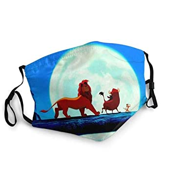 Dis-ney Cartoon Collection Adjustable Face_Masks For Adult  The-Lion-King