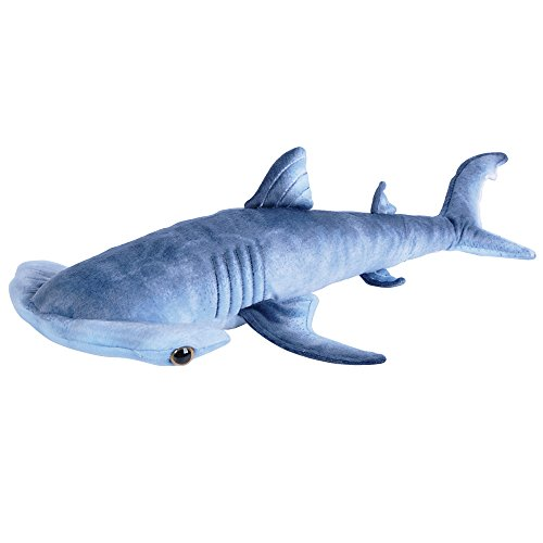 Adventure Planet Blue Pnted Hammerhead Shark Plush Toy 24 Inch L