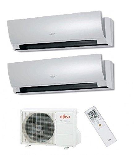 Condizionatore / Climatizzatore Multisplit Inverter Parete Fujitsu-General-Fuji 14000 Btu con Interne 7000 + 7000 Design Btu Giapponese Classe A++