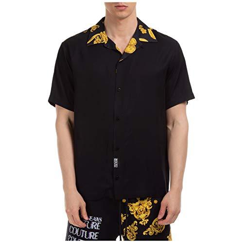 Versace Jeans Couture Camicia Maniche Corte Uomo Nero 48 EU