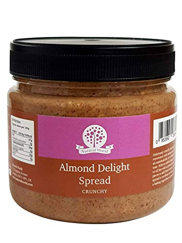 Nutural World - Deleite de Aderezo crujiente de Almendra (1kg) Producto Galardonado