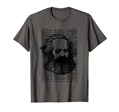 Página del libro de Karl Marx SOVI8 Propaganda Vintage. Camiseta