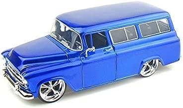 1957 Chevy Suburban 1/24 Metallic Blue - Jada Toys Diecast