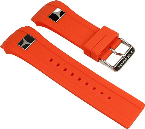 Hugo Boss Orange Uhrenarmband Kautschuk Band Orange 24mm 1512812