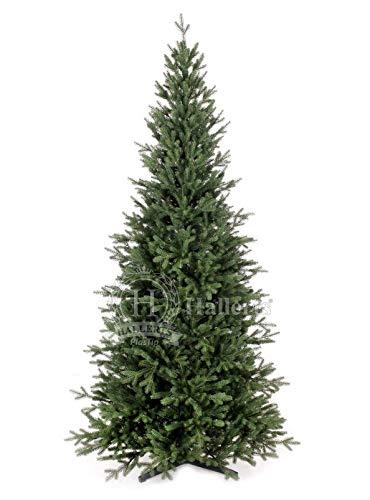 Original Hallerts® Spritzguss Weihnachtsbaum Bellister 180 cm als Nobilis Edeltanne - Christbaum zu 100% in Spritzguss PlasTip® Qualität - schwer entflammbar nach B1 Norm, Material TÜV und SGS geprüft - Premium Spritzgusstanne