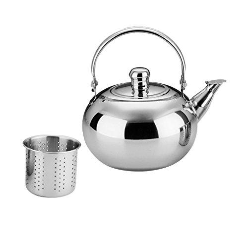 1.6L Kaffeekanne Edelstahl Teekessel Kaffeekessel Wasserkessel Wasserkocher