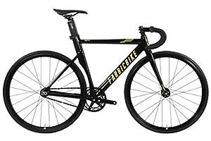 """FabricBike AERO - Fixed Gear Fahrrad, Single Speed Fixie Starre Nabe, Aluminium Rahmen und Carbon-Gabel, Räder 28"""", 5 Farben, 3 Größen, 7.95 kg (Größe M)"""