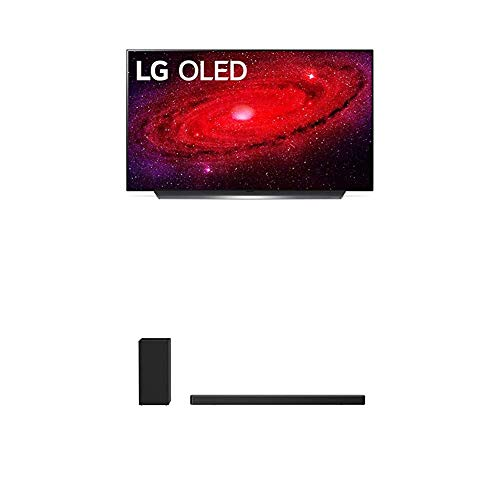 """LG OLED48CXPUB Alexa Built-in CX 48"""" 4K Smart OLED TV (2020) with LG SN6Y 3.1 Channel 420 Watt High Res Audio Sound Bar with DTS Virtual:X, Black"""