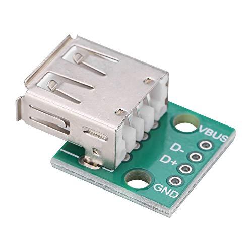 Akozon 10Pcs USB-A Hembra a DIP Tarjeta de Adaptador 2.54mm para el diseño de la fuente de alimentación de DIY USB/el tablero de pruebas