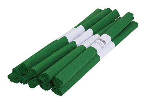 10er-Pack VBS Krepppapier ca. 50x200cm Rollen viele Farben Bastelpapier Papier Krepp Bastelkrepp Grün