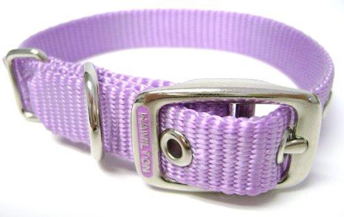 Hamilton 5/8-Inch by 12-Inch Single Thick Nylon Deluxe Dog Collar, Lavender