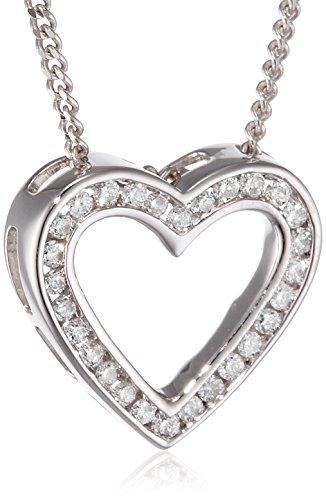 Diamonds by Ellen K. Damen-Kette mit Anhänger 585 Weißgold rhodiniert Diamant (0.22 ct) Brillantschliff weiß 45 cm - 500341225-1