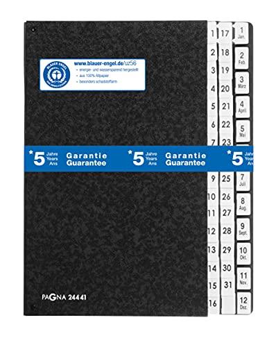Pagna Pultordner Classic (Pultmappe, 44 Fächer, 1-31/ 1-12/Jan-Dez) schwarz