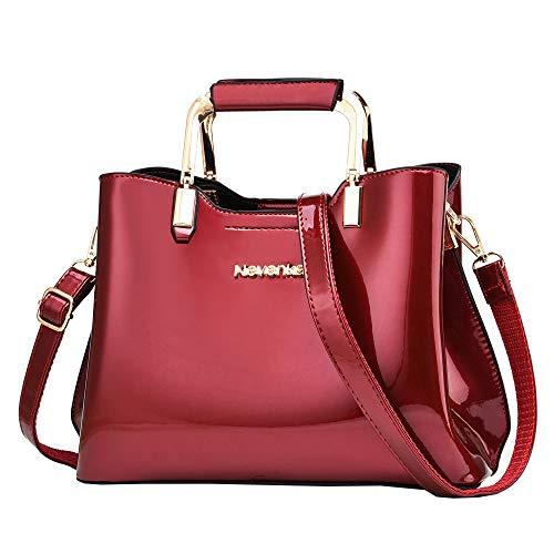 Nevenka Womens Fashion PU Leather Top Handle, Shoulder Handbag - Red