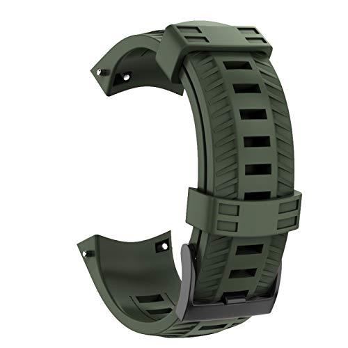 SIWEI Smart Watch Armband für SUUNTO 9 Baro, 24 mm weiches Silikonarmband für Uhren, Outdoor Sports Silikonarmband