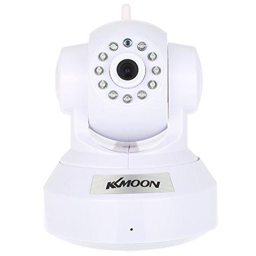 KKmoon HD 720P Cámara IP WiFi Inalámbrico Pan Tilt, Network Interior Vigilancia, Baby Monitor, PTZ, TF Tarjeta Record, 2-Vias Audio, P2P, Android/iOS APP, IR-CUT, Visión Nocturna, Detección de Movimiento, Alarma Browser View para CCTV Sistema de Seguridad