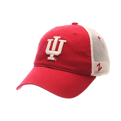 NCAA Zephyr Indiana Hoosiers Mens University Relaxed Hat, Adjustable, Team Color/Stone
